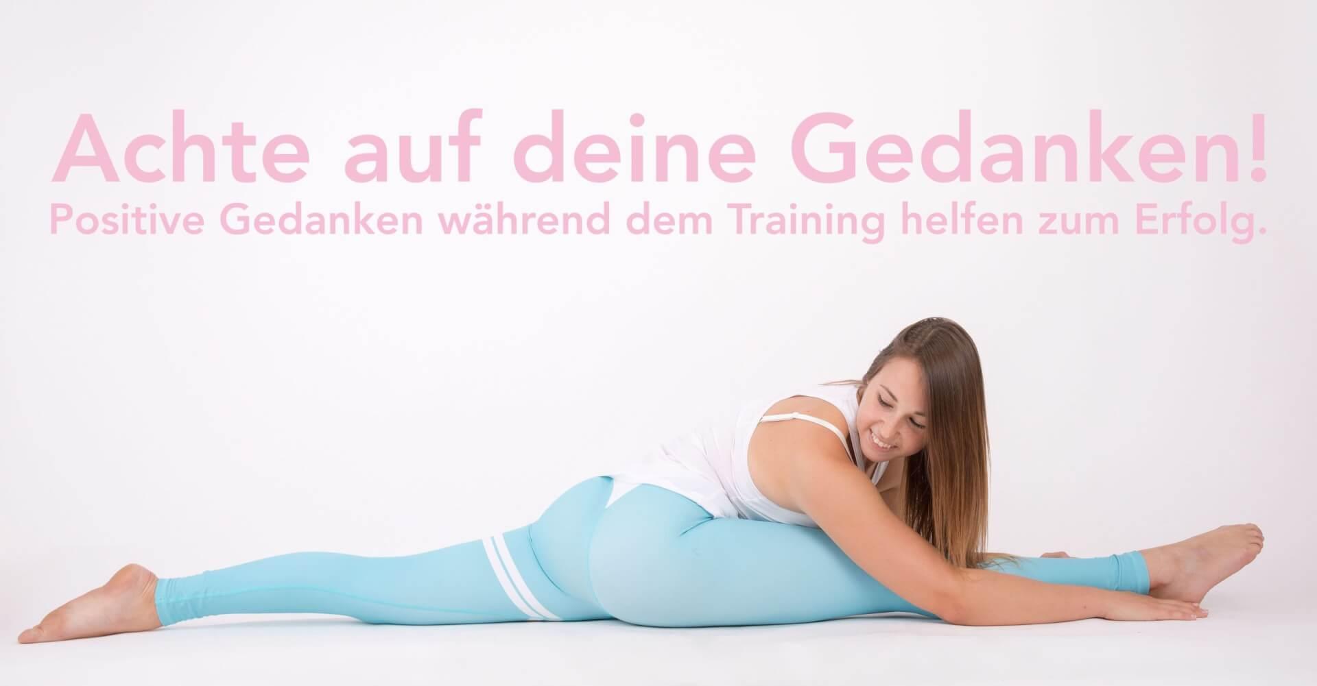Positive Gedanken für das Stretching Training