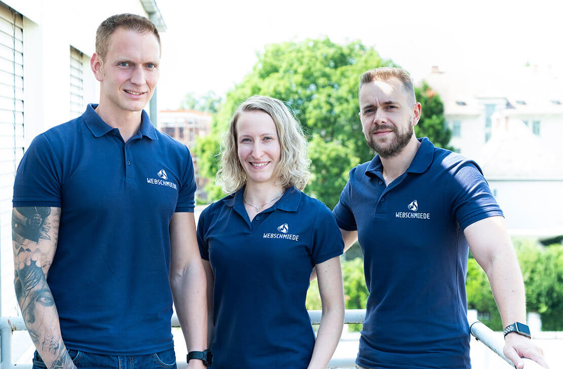Martin, Karina und Thomas von der Webschmiede GmbH